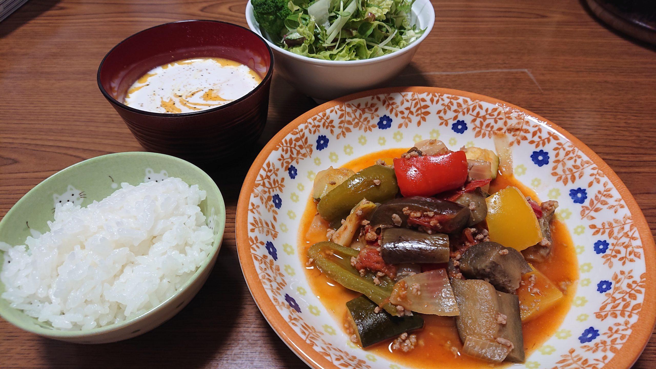 ラタトゥイユ&かぼちゃスープ
