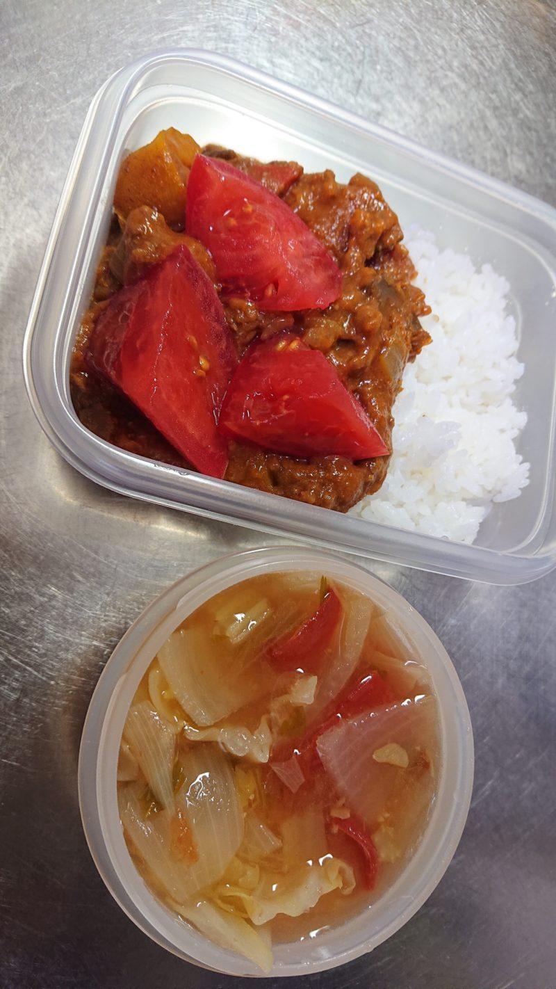 夏野菜カレー弁当